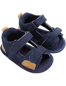 zhouba verano para bebé Baby Boy Denim Gamuza Sandalias antideslizante suave única prewalker