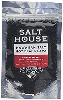 Pacifica Hawaii Hawaiian Hot Black Lava Sea Salt in Pouch 200 g (Pack of 2)