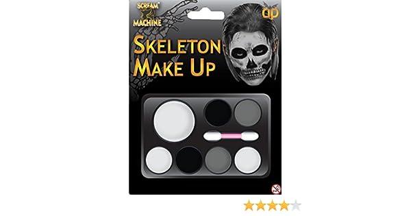 halloween skeleton make up kit face paint amazon co uk toys games
