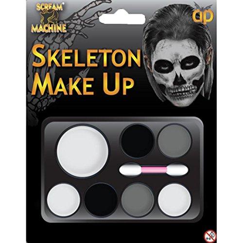 Skelett Make Up (Halloween Skelett Make Up Kit Face)