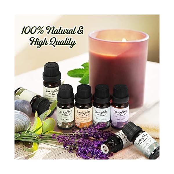 Aceites Esenciales para Humidificador, 100% Natural Puro Aromaterapia Aceite Aromático, 8 x 10 ml (Lavanda, Hierba de Limón, Menta, Eucalipto, Árbol de té, etcétera) para Humidificador y Difusor Aroma