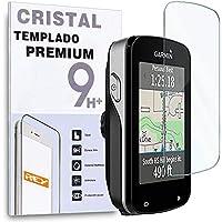 REY Protector de Pantalla para Garmin Edge 820 - Edge 520 - Edge 520 Plus, Cristal Vidrio Templado Premium