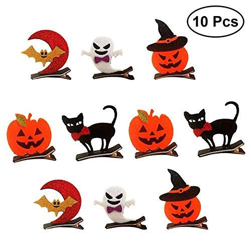 10pcs Halloween Hairpins Pumpkin Bat Ghost Hair Clips Zubehör Für Halloween-kostüm