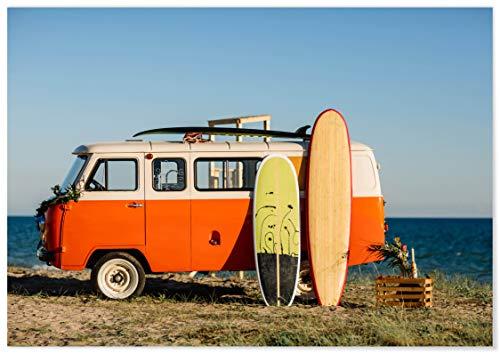 Panorama® Póster Viaje de Surf 70 x 50 cm | Láminas Decorativas Pared | Impreso en Papel 250gr | Cuadros Paisajes | Póster Naturaleza | Cuadros Decoración Salón