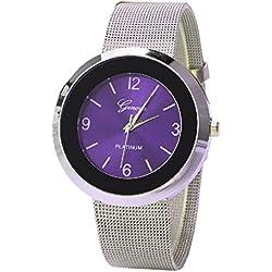 Geneva Platinum Big Size Dial Women's Watch - GP-347