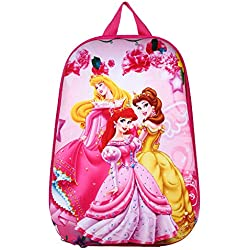 Aqua De Vida 3D Disney Cinderella,Princess,Princesa,Barbie,Pink Backpack water proof, school bag For children ages 5 to 10 years. 15 Liter, 16 Inches.