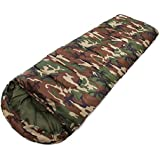 Inditradition Sleeping Bag Cum Mattress- with Cape, Waterproof, Camouflage Military Green Color (Ideal in 0 Degree Temperature)