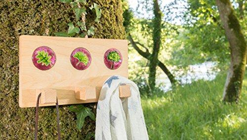 Colgador de pared en madera y esmalte