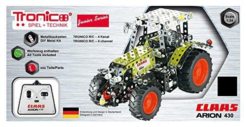 RC Traktor kaufen Traktor Bild 1: Tronico 10064 - Metallbaukasten Traktor Claas Arion 430 mit Fernsteuerung, Junior Serie, Maßstab 1:24, 547-teilig, grün*