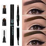 Wasserdichter Augenbrauen-Stift für Mädchen, 3-in-1, wasserfest, multifunktional, automatische Augenbrauen-Pigmente, Make-up-Set, Beauty (hellbraun) Einheitsgröße Schwarz