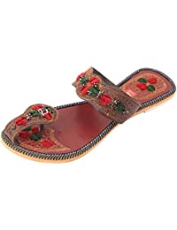 Footrendz Women's Embroided Synthetic Flats