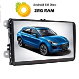 Autoradio 2GB RAM Android 8.1 Oreo con schermo da 9 pollici, risoluzione 1024 x 600 MP, supporto GPS, Bluetooth, Radio DAB+, link SWC per WiFi su display