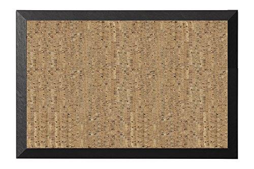 Bi-Office - Kamashi Korktafel, Pinnwand mit MDF Rahmen und Natürliches Kork Oberfläche, 60 x 45 cm großer, 19 mm dicker, Schwarz MDF Rahmen