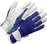 Ladies Leather Gardening Gloves - Feminine Slim-fit Work Gloves for Women. Ideal for Garden and Household Tasks, Even Safe for Pruning Roses! Best Gift Idea for Gardeners. Buy on Sale on NOW!