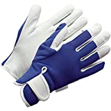 Gardening Gloves (Large Womens/Medium Mens) Blue Slim-fit Work Gloves. Ideal for Garden and Household Tasks, Safe for Pruning Roses. Best Gift Idea!