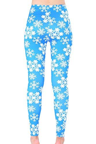 Femmes Les Sports YACUN Travail Imprimé Un Slim Jambières Capris blue