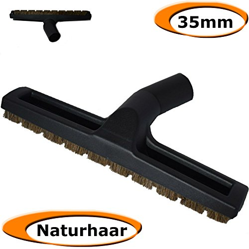 Naturhaar Parkett / Laminat / Holz Dielen Boden Düse für Staubsauger - 35 mm Pflege - zb für Bosch Miele Panasonic Rowenta Samsung Siemens