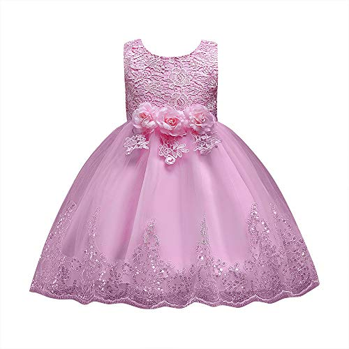 Disco Barbie Kostüm Ideen - IZHH Kinder Kleider,Sommer ärmellose Mädchen Bögen