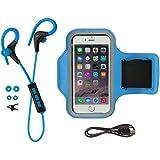 KitSound Race Écouteurs Bluetooth Sans Fil et Brassard de Sport - Bleu