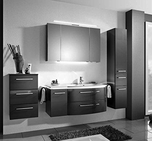 PELIPAL Lunic 3 tlg. Badmöbel Set / Waschtisch / Unterschrank / Spiegelschrank / Comfort N