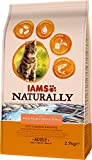 Iams Naturally Cat Food with North Atlantic Salmon and Rice, Complete and Balanced Cat Food with Natural Ingredients, 3 x 2.7 kg