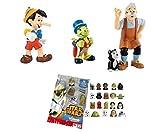 LOTE 3 FIGURAS Bullyland Pinocho - Pinocho - Pepito Grillo - Gepetto + REGALO