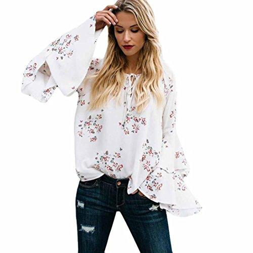 Btruely Damen Bluse 2018 T-Shirt Rundhals Langarm Oberteile Elegante Top Frauen Herbst Langarm Loose Bluse Tops Basic Tee Spitzenbluse Frauen Hemdbluse