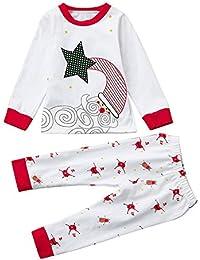 d9c6c7ab8 AIMEE7 Ropa niños navideña Recién Nacido Infantil Navidad Bebé Niño Chica  Tops + Pantalones Ropa de