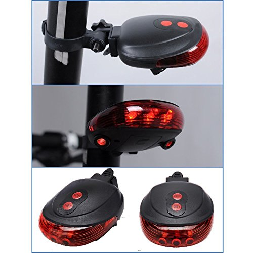 New-Bicycle-Tail-light-5-LED-2-Laser-guide-for-safety-blue-colour