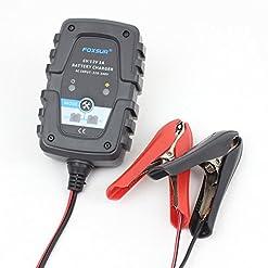 FOXSUR 6V 12V 0.75A 750mA Caricatore automatico intelligente per batterie Caricatore per auto moto Scooter Deep Cycle AGM GEL VRLA Caricabatterie