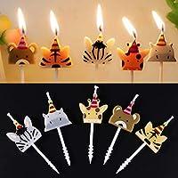 WEISHAZI Cute Candle Zoo Party Shape Carnival Animal Birthday Candles 5Pcs/Set