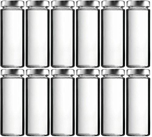 mikken 12 x Einmachglas 375 ml Vorratsglas mit Schraubverschluss PVC frei inkl. Trichter