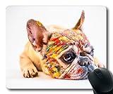 Individuelle Mousepad, Hund, Hund Niedliche Haustiere Bulldogge Malen spaß, Kleiner Hund Gaming Mouse Pad