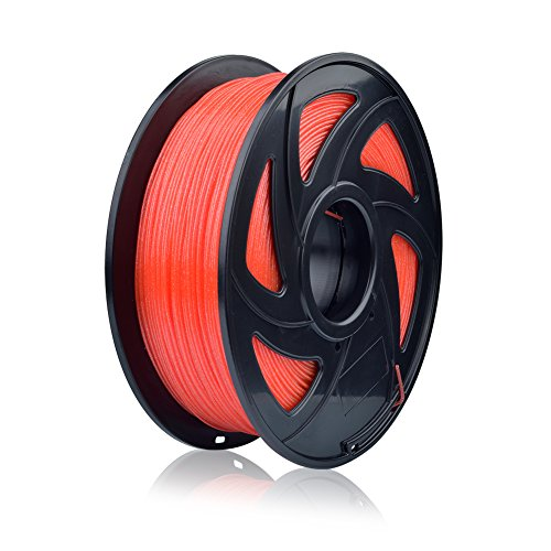 SIENOC 1 Packung 3D Drucker TwingKling 1.75mm Printer Filament - Mit Spule 1kg (TG TwingKling Rot)