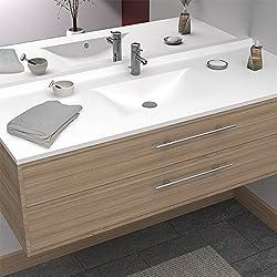 UneSalleDeBain Plan Simple Vasque centrée RÉSIPLAN - 120 cm