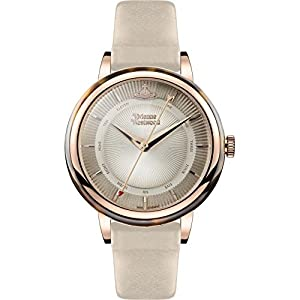 Vivienne Westwood Women's Quartz Watch with Beige Dial Analogue Display and Beige Leather Strap VV158RSBG
