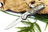 Taschenmesser Klappmesser Jagdmesser Stainless Steel Knife mit LED Lampe Top