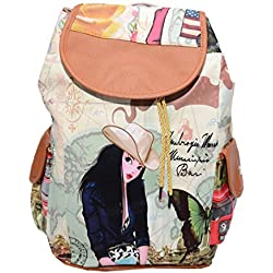 Ruff Girl's/Women's Backpack Handbag (Multicolor,Grv460)