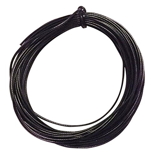 Prettyia 10 Metres Nylon Waxed Cord Bundle 2mm Jewellery Making String Thread - Black