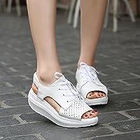 Xing Lin Sandalias De Mujer Nueva Al Final De Gruesas Sandalias Con Balancín Transpirable Zapatos Cómodos Zapatos Deportivos, La Mujer Blanca 39,06-1