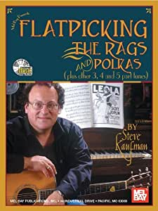 Steve Kaufman: Flatpicking The Rags And Polkas. Partitions, CD pour Tablature Guitare, Guitare