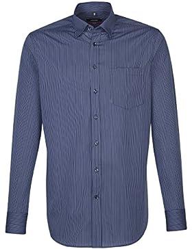 SEIDENSTICKER Herren Hemd Modern Langarm Bügelfrei Streifen Businesshemd Kombimanschette weitenverstellbar