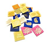 #10: Satyam Kraft paper Small Traditional Print Multipurpose Gift Tag/Card/Lable for Crafts/Wedding Favor/Party/Birthday/Return Gift/Special Occasions (Pack fo 20) LBH(cms)=6.5X0.2X6.5 (Mix design tags, 20)