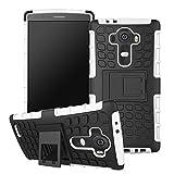 Accessory Master Stoßfest hard Hybrid Silikon Hülle Tasche Schutzhülle Case Cover für Lg G4 H815 weiß