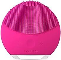 FOREO LUNA mini 2 spazzola viso in silicone molto delicato e adatto a tutti i tipi di pelle Fuchsia, Ricarica tramite USB