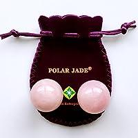 KEGEL palline 815064Set di quarzo rosa, rosa, per allenamento di muscoli del pavimento pelvico per ridurre incontinenza urinaria e prevenire prolasso di Uterine e vescica, da Polar Jade