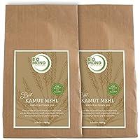 BIO Kamut Urweizen Mehl von BIOMOND/2 x 1.000 g Vorteilspack/Khorasan-Weizen aus Kanada/mittelfeines Mehl