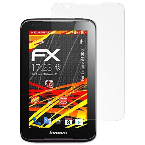 atFolix Schutzfolie kompatibel mit Lenovo A1000 Bildschirmschutzfolie, HD-Entspiegelung FX Folie (3X)