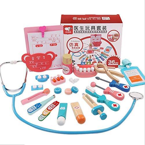 QIAO QAIO Vater - Mutter - Kind - MIT hölzernen Kinder Medizin ärzte Spielzeug Mädchen von ärzten und Krankenschwestern aus stethoskop