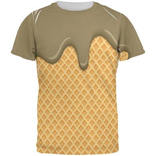 Schmelzende Schokolade Eis aller Herren-T-Shirt Multicoloured